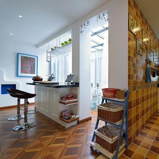 地中海风格复式别墅装修吧台设计