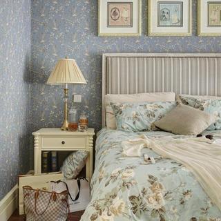 法式乡村风格家卧室背景墙图片