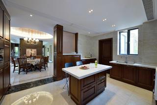 现代中式别墅装修厨房设计图