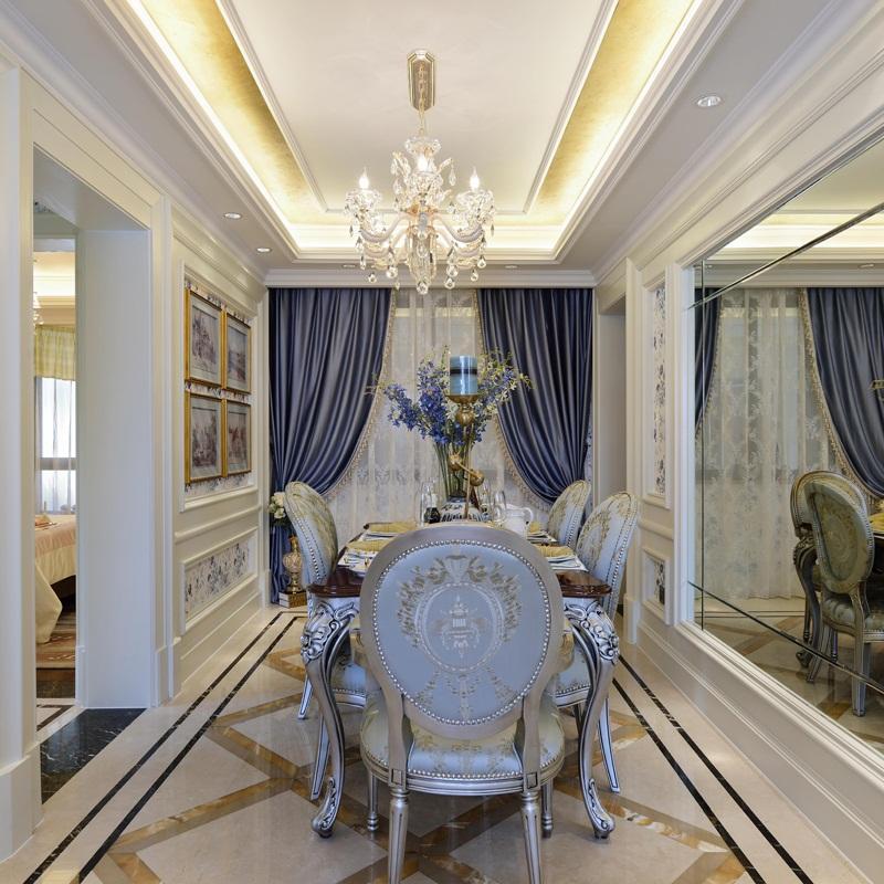 130平浪漫欧式四居装修餐厅效果图