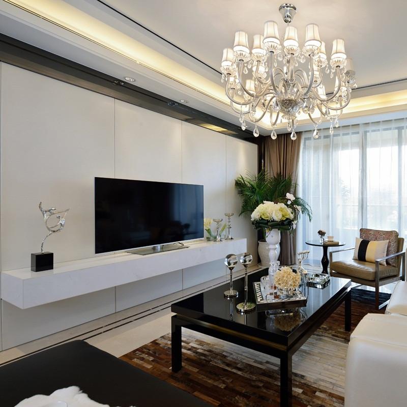 现代简约风格样板间装修电视背景墙图片