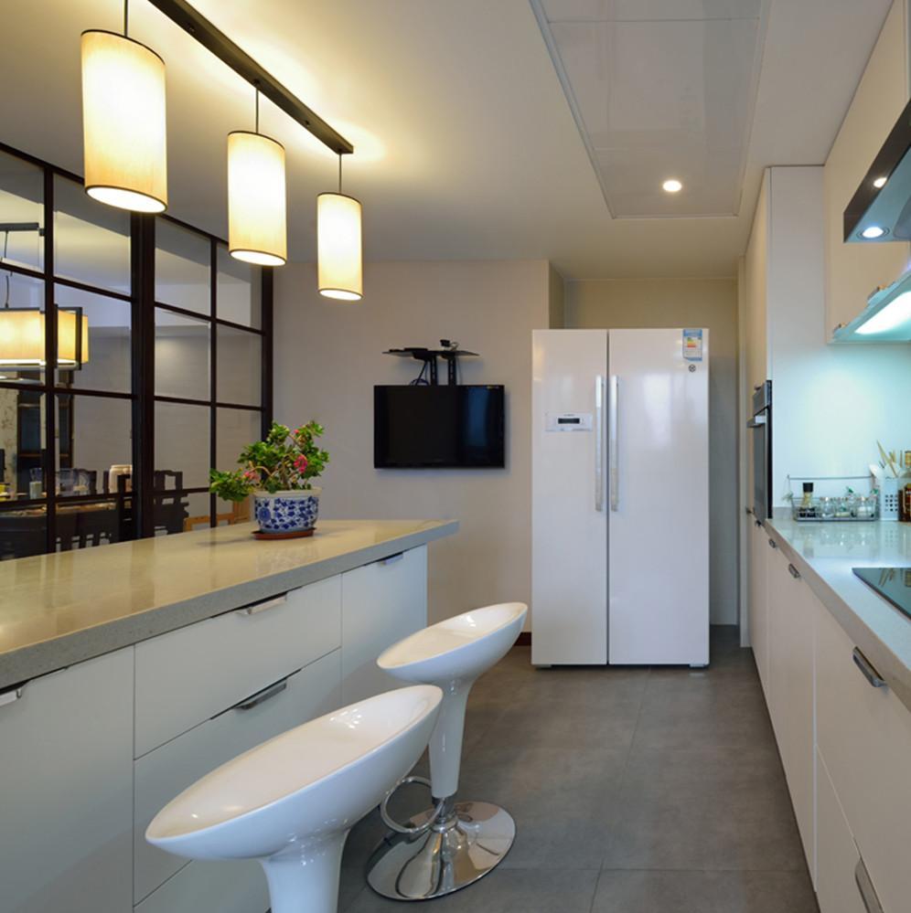 现代中式装修厨房设计图