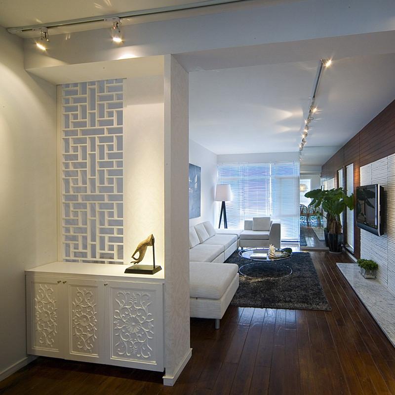 三居室现代中式家玄关设计图