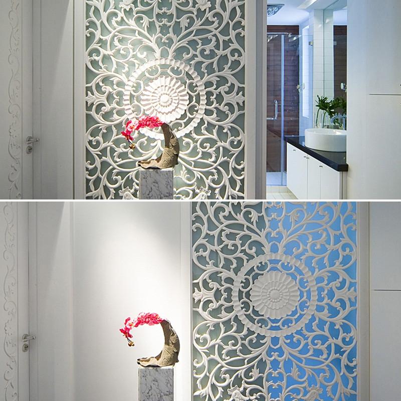 三居室现代中式家端景特写