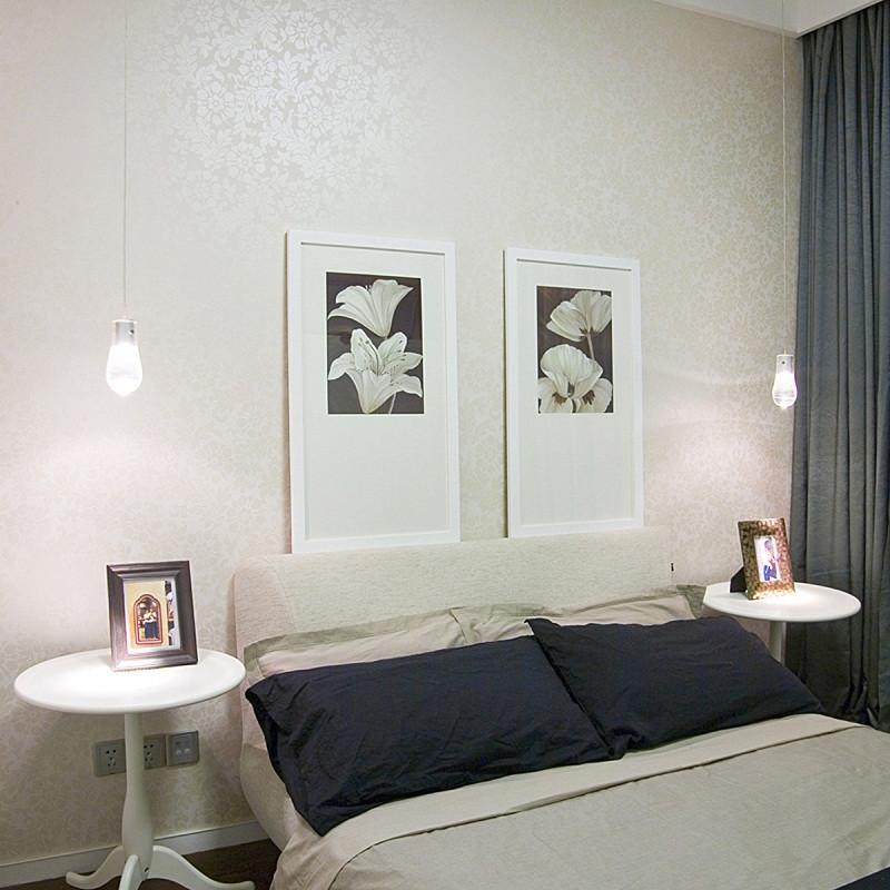 三居室现代中式家卧室布置图