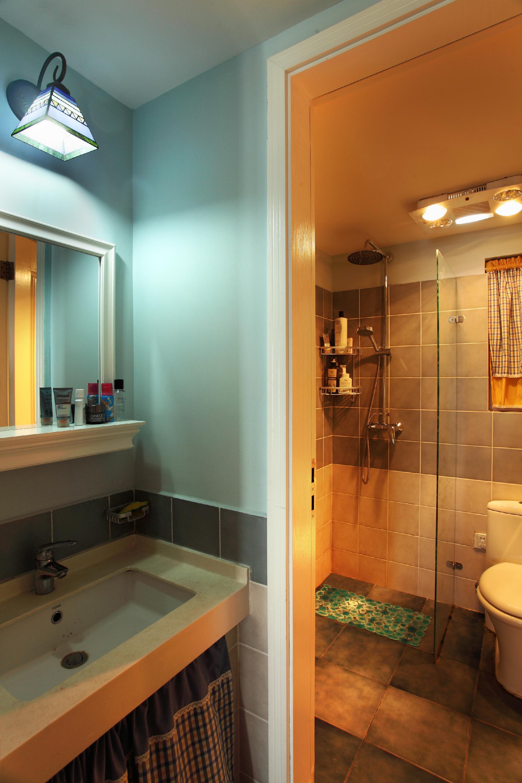 小户型公寓装修卫生间实景图
