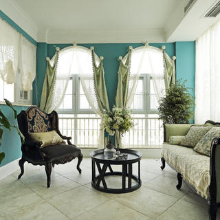 大户型美式跃层装修休闲室布置图