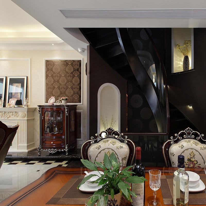 华丽庄重美式别墅装修餐厅布置图