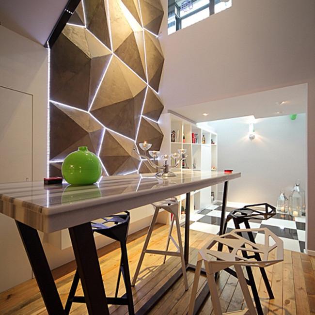 130平Loft装修餐厅布置图