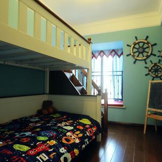 美式乡村风格四居儿童房设计图