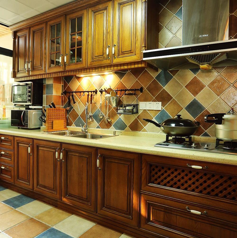 美式乡村风格四居厨房设计图