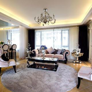 175平新古典装修客厅设计图