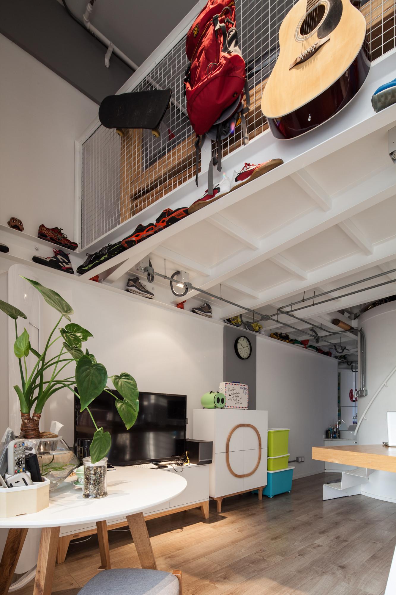 Loft公寓装修电视背景墙设计