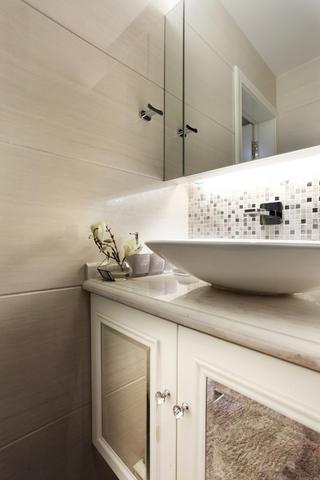 130平奢华新古典装修洗手台图片
