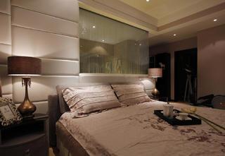 134平简约风格家卧室背景墙图片