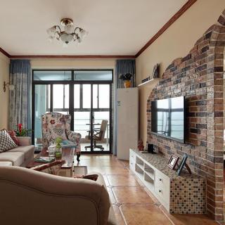 97平现代美式两居装修设计图