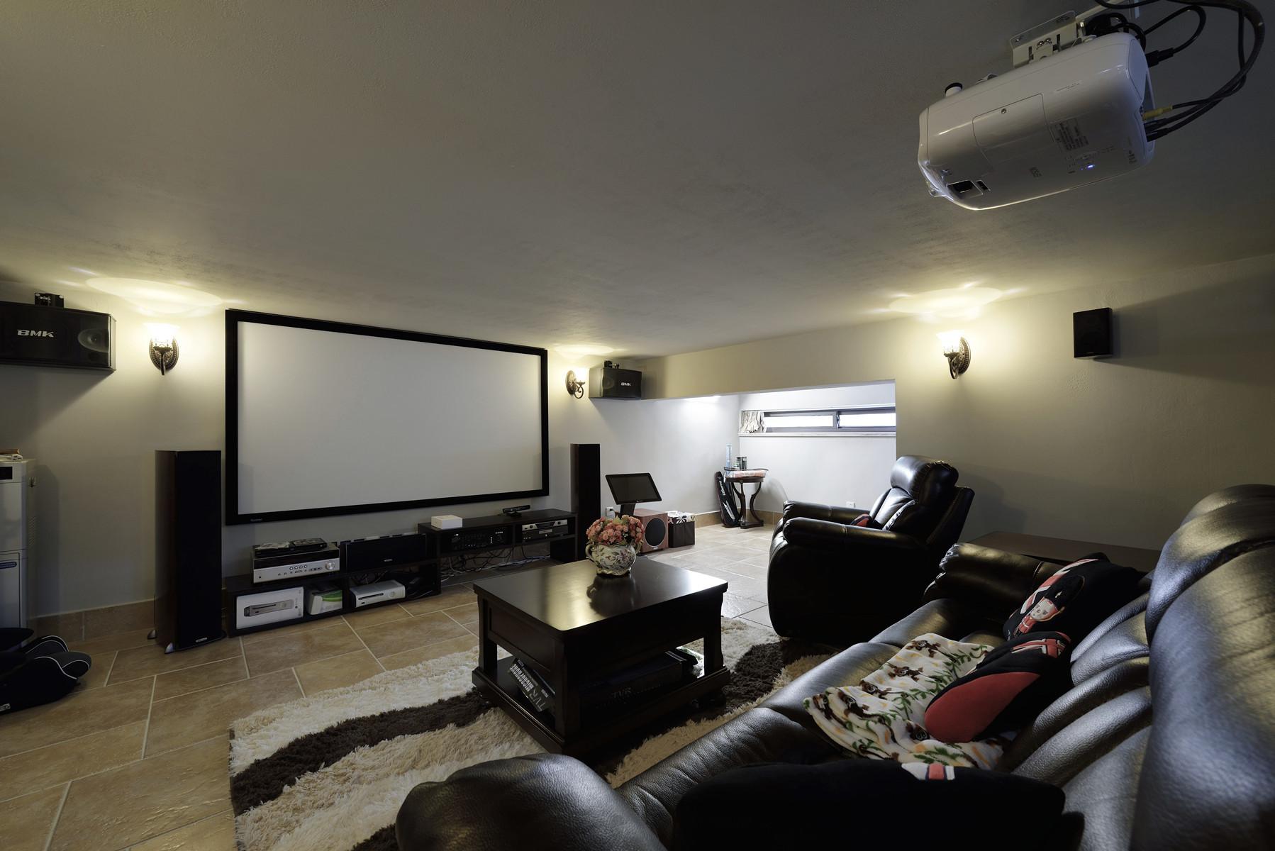 美式风格别墅设计影音室搭配图