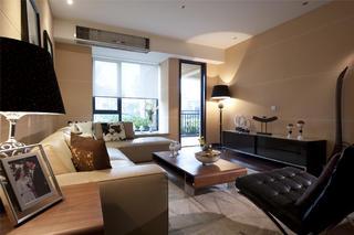 新中式风格样板间装修客厅效果图