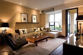 新中式风格样板间装修沙发背景墙图片