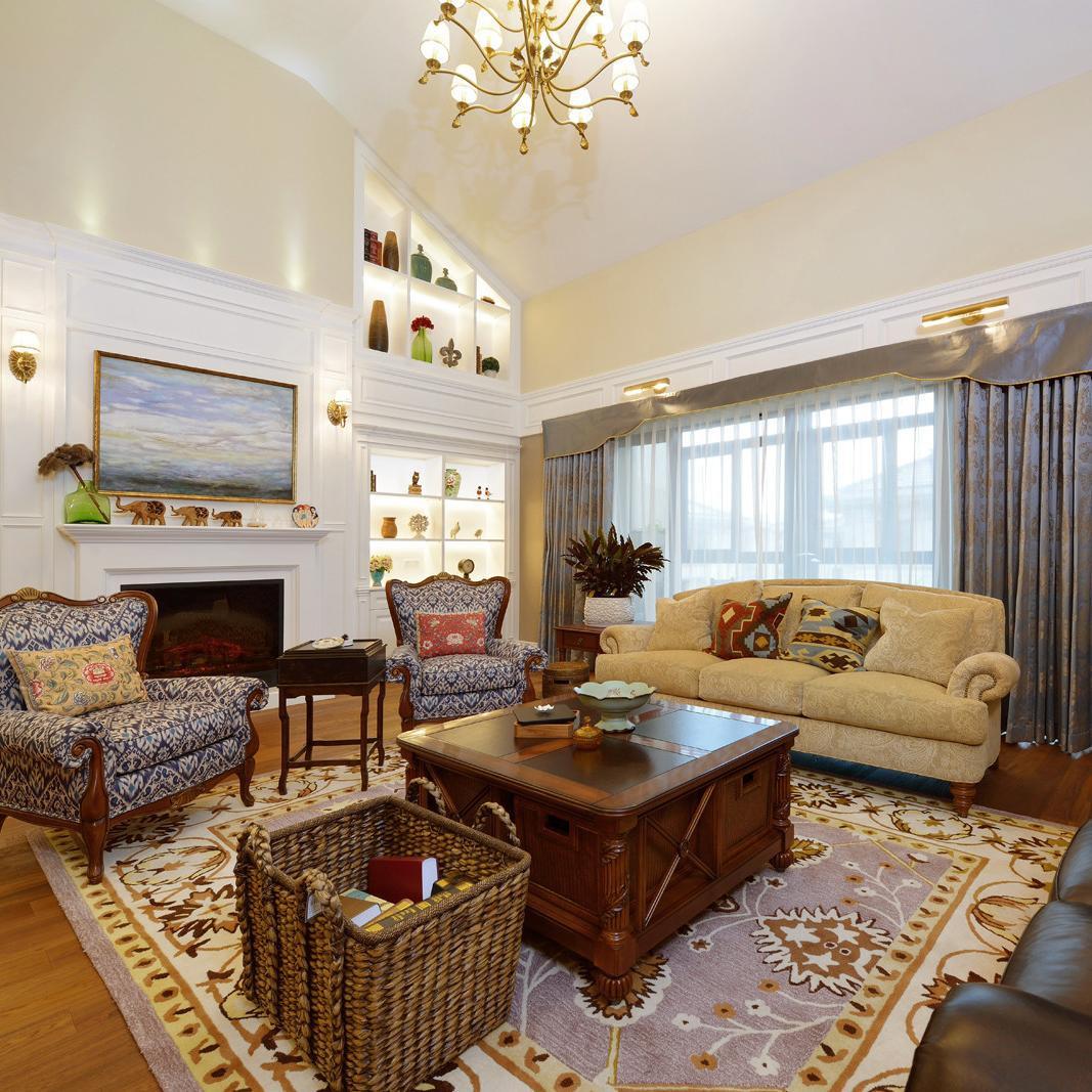 复式美式装修客厅设计图