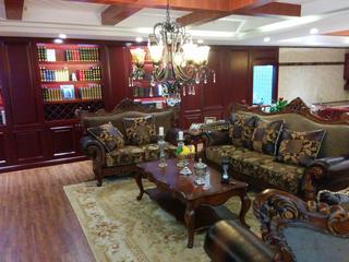 古典美式风格别墅装修沙发布置