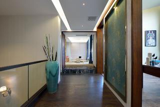 现代中式别墅装修走廊图片