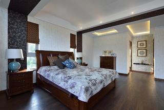 现代中式别墅装修卧室设计图