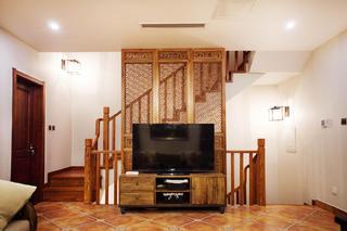 混搭四居室装修电视背景墙设计