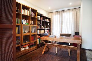 混搭四居室装修书房布置图