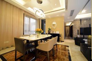 现代简约三居室餐厅设计图