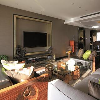 大户型东南亚风格装修电视背景墙设计
