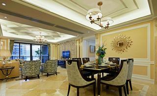大户型美式风格装修餐厅搭配图