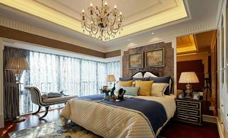 大户型美式风格装修卧室效果图