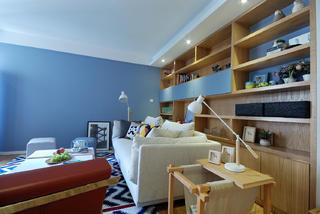 80㎡北欧两居室装修收纳架设计