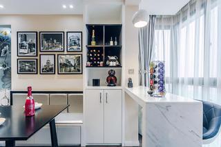 现代简约三居室装修吧台设计