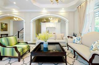 大户型美式别墅装修沙发图片