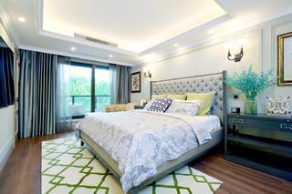 自然温馨美式别墅装修卧室吊顶