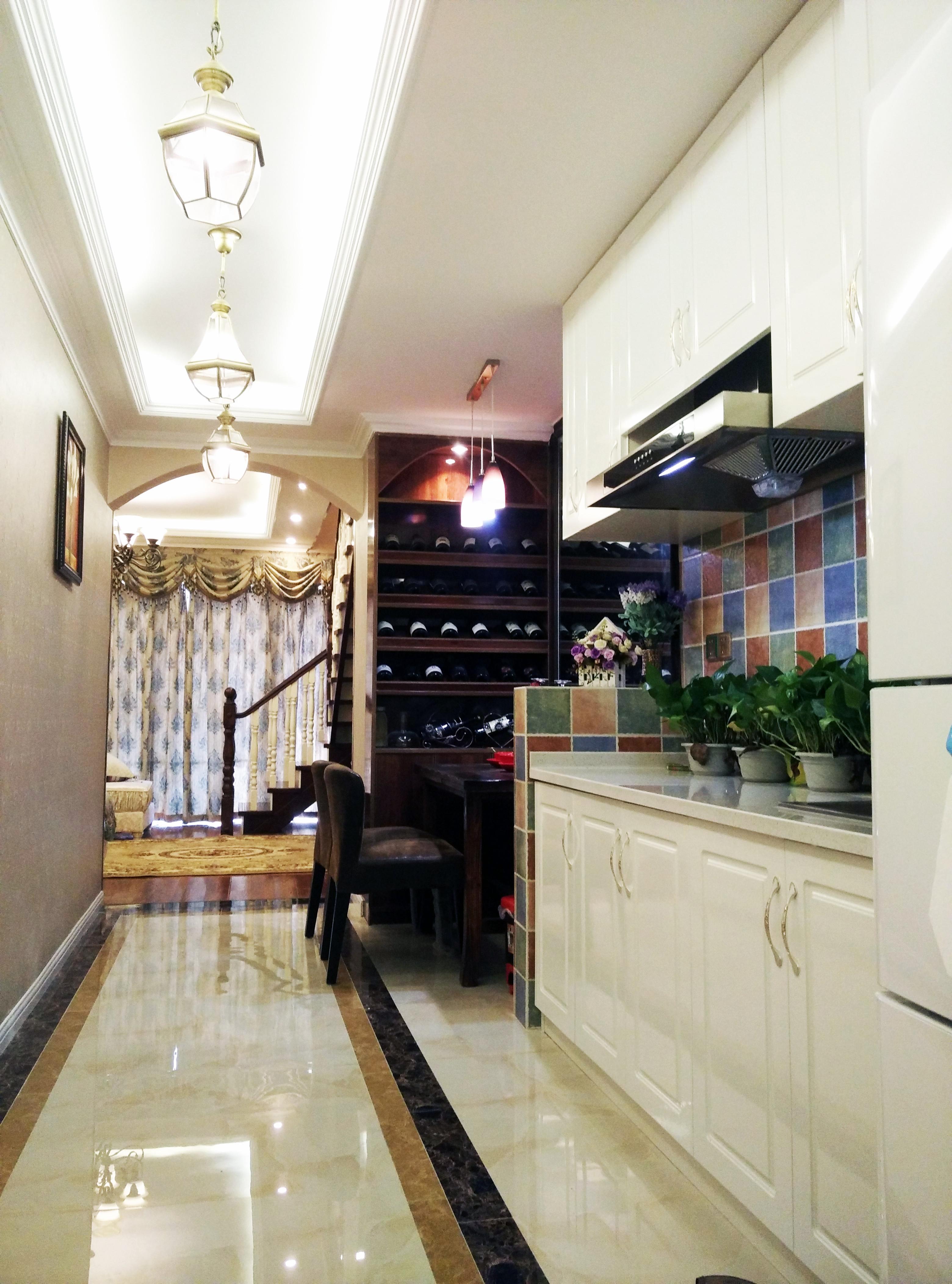 复古美式小复式装修厨房设计图
