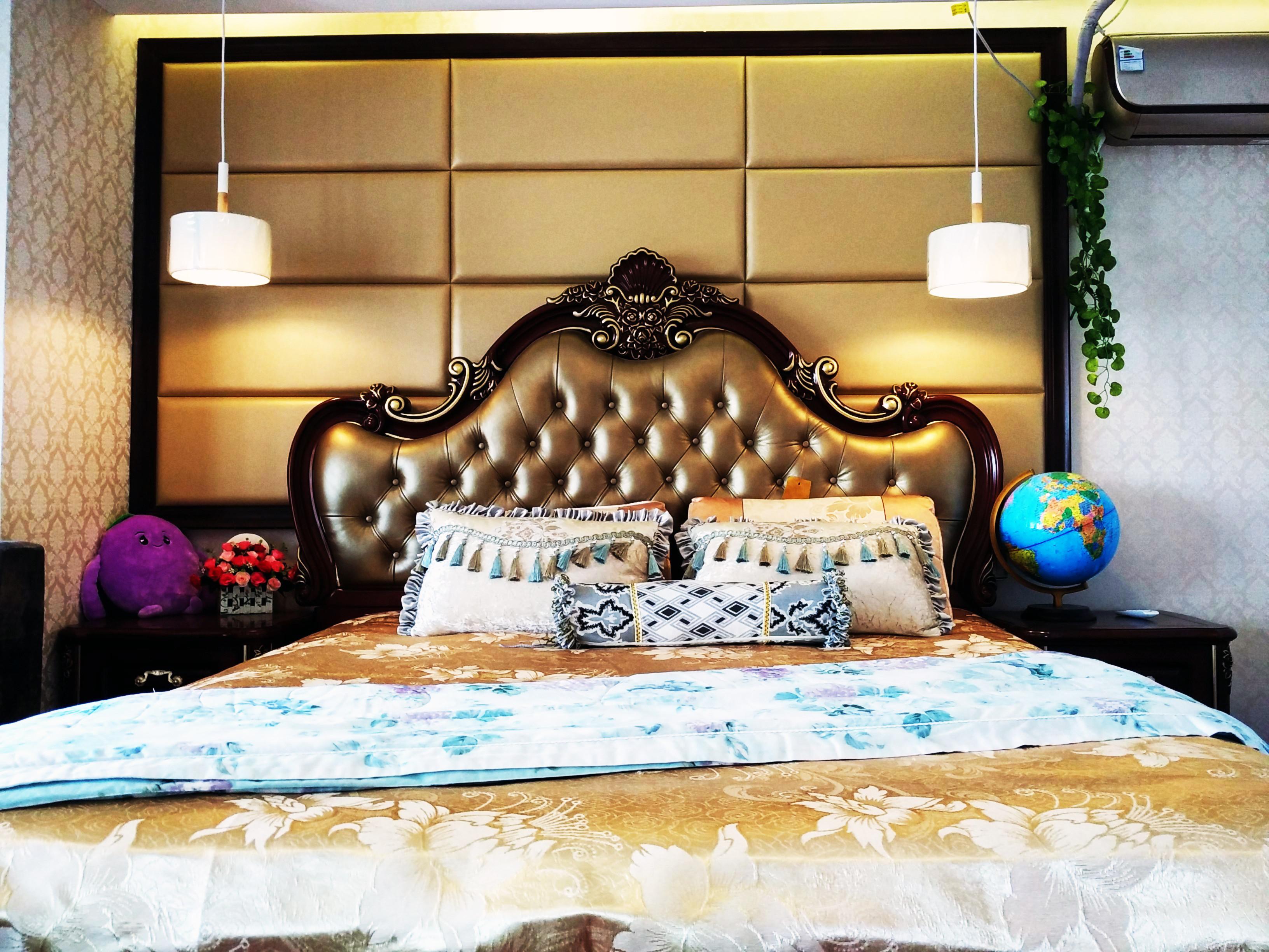 复古美式小复式装修卧室搭配图