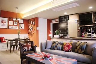 两居室混搭之家餐厅背景墙图片