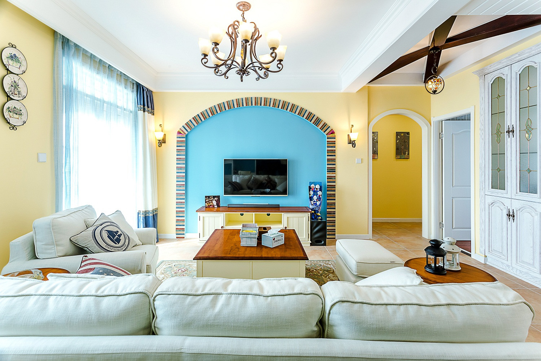 三居室地中海风格家电视墙设计
