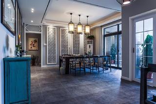 160㎡新中式风格装修餐厅效果图