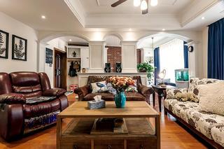 三居室美式公寓装修沙发图片