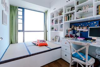 100平混搭风格家榻榻米书房设计