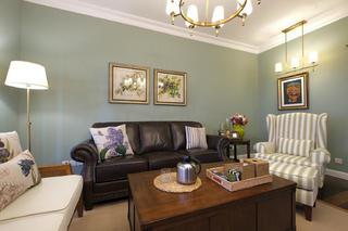 简美风格三居装修沙发背景墙图片