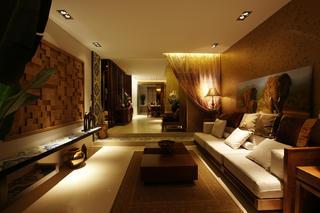 120㎡东南亚风格装修客厅设计图