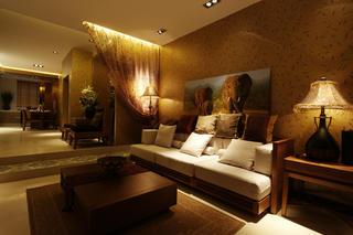 120㎡东南亚风格装修沙发背景墙图片