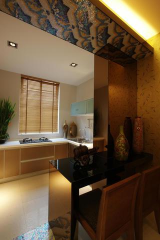 120㎡东南亚风格装修厨房布局图