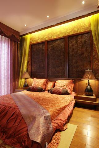 120㎡东南亚风格装修卧室设计图