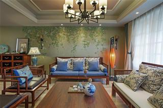大户型中美混搭装修客厅设计图